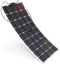 Load image into Gallery viewer, wccsolar.es Monocrystalline Flexible Solar Panel 100 W 12 V 100 W Flex Solar for - Boat-yard.com