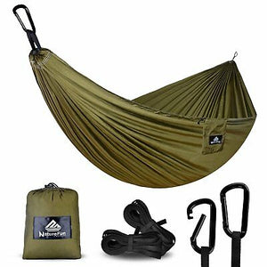 NatureFun Ultra-Light Travel Camping Hammock | 300kg Load Capacity,275x 140 cm | - Boat-yard.com