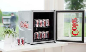 Husky Freestanding Diet Coke Mini Fridge 43L Silver - Boat-yard.com