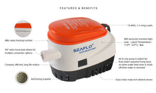 Load image into Gallery viewer, AUTOMATIC 12V BILGE PUMP 750GPH WITH INTERNAL FLOAT SWITCH AUTO WATER BOAT - Boat-yard.com