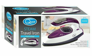 Quest Travel Steam Iron - 1000w Collapsible Mini Iron, Portable, Ergonomical - Boat-yard.com