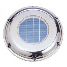 Load image into Gallery viewer, SOLAR DELUXE VENT FAN with REMOTE CONTROL STAINLESS  VENTILATOR Model: SVT-224SR - Boat-yard.com