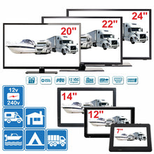 "Load image into Gallery viewer, 7"" - 24"" Digital TV 12v 240v for Motorhome Caravan Boat DVB-T2 Freeview PVR - Boat-yard.com"