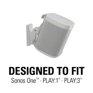 2 x Sanus White Speaker Swivel & Tilt Wall Mount Sonos ONE Play:1 Play:3 ONE SL - Boat-yard.com
