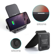 Load image into Gallery viewer, UK 15W Fast Qi Wireless Charger Charging Dock Stand For iPhone11 XS Samsung S20 - Boat-yard.com