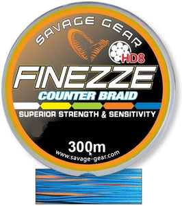 SAVAGE GEAR HD8 FINEZZE COUNTER BRAID SEA FISHING LINE FOR BEACHCASTER BOAT RODS - Boat-yard.com