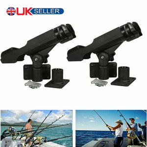Adjustable 360 Degree Fishing Rod Holder Rack Stand Kit For Boat Kayak Yacht UK - Boat-yard.com