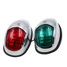 Load image into Gallery viewer, boat1 Pair 12V LED Bow Navigation Light Red Green Marine Boat Yacht - Boat-yard.com