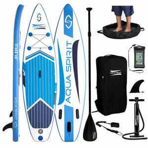 "Aqua Spirit iSUP / Inflatable SUP Stand Up Paddle Board Full Set - 10-11FT 5-6"" - Boat-yard.com"