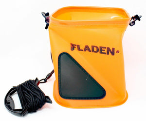 Fladen Fishing Orange Collapsible Bucket with Drop Rope - Boat-yard.com