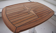 "Load image into Gallery viewer, Teak Table - Nautic Star ""Half Ellipes""  Three Sizes Available Boat Yacht Marine - Boat-yard.com"