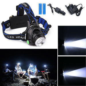 Boat Zoom Headlamp 90000LM Rechargeable T6 LED Headlight Flashlights Head Torch UK - Boat-yard.com
