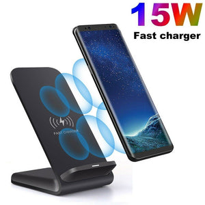 UK 15W Fast Qi Wireless Charger Charging Dock Stand For iPhone11 XS Samsung S20 - Boat-yard.com