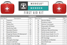 Load image into Gallery viewer, Musclemender 120 Piece Premium First Aid Kit Emergency Medical Bag Travel Work - Boat-yard.com