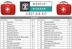 Musclemender 120 Piece Premium First Aid Kit Emergency Medical Bag Travel Work - Boat-yard.com