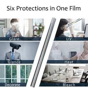 Mirror Window Film - One Way Reflective UV Vision Privacy Solar Glass Tint - Boat-yard.com
