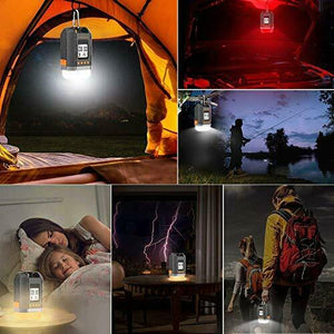 Boat LED Camping Lantern Rechargeable&Power Bank 15000mAh, Sinvitron Small, Black - Boat-yard.com