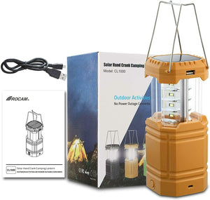 ROCAM LED Camping Boating Lantern,Rechargeable Solar Lantern Camping with Hand Water for - Boat-yard.com