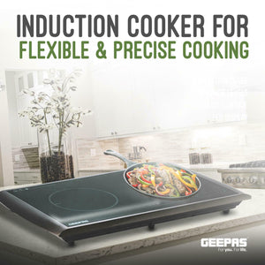 Geepas 2900W Induction Hob Double Portable Hot Plate Digital Electric Cooker - Boat-yard.com