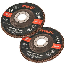 Load image into Gallery viewer, 2x COARSE FLAP DISCS 40 Grit Professional Angle Grinder Wood Metal Sanding Wheel - Boat-yard.com