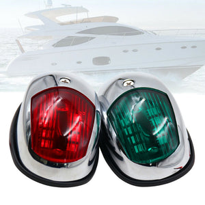 boat1 Pair 12V LED Bow Navigation Light Red Green Marine Boat Yacht - Boat-yard.com