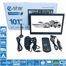 "Load image into Gallery viewer, eStar 10"" Inch Portable HD TV 240 & 12V DVB-T2 Freeview Motorhome Caravan Boat - Boat-yard.com"
