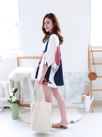 (BACKORDER) Connor Graphic Kimono in White