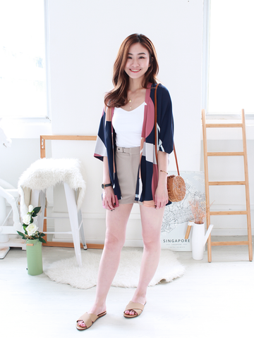 Connor Graphic Kimono in Navy