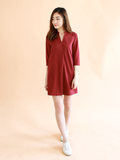 Anders Shirt Dress in Wine | *MADEBYWC