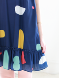 Joy Drop-waist Dress in Navy