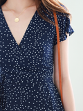 Beckett Polka Wrap Dress