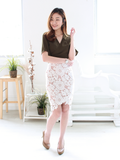 Randell Crochet Overlap Skirt in White | *MADEBYWC
