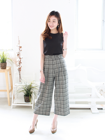 Jacintha Pants in Plaid