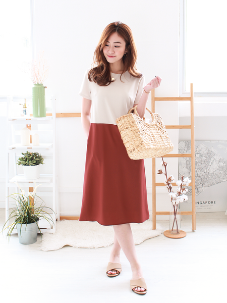 Kydra Two-Tone Midi in Rust