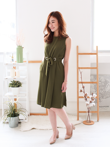Oia Tie-Waist Dress