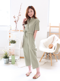 Albie Utility Jumpsuit in Sage