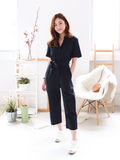 Albie Utility Jumpsuit in Navy