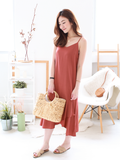 Willow Resort Midi Dress in Rust