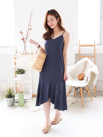 Willow Resort Midi Dress in Blue