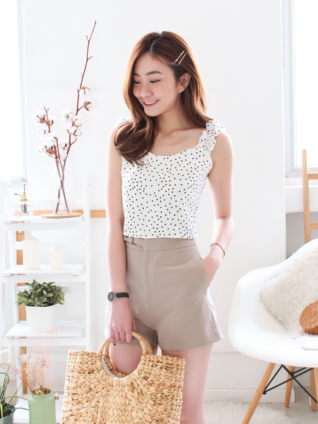 Sonia Polka Top in White