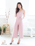 Benjamin Sash Jumpsuit in Blush | *MADEBYWC