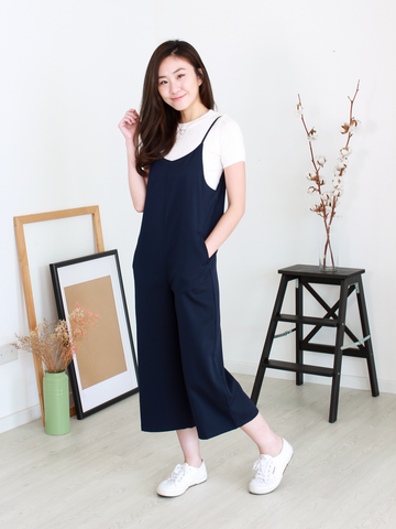 Yasmine Pocket Jumpsuit in Navy