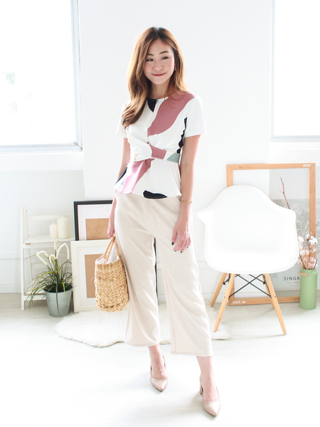 Kylo Peplum Tie Top in Painter's Palette | *MADEBYWC