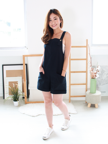 (BACKORDER) Becca Dungarees in Navy