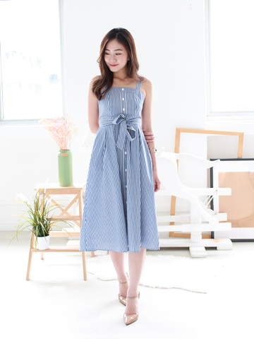 (BACKORDER) Andrea Striped Summer Dress