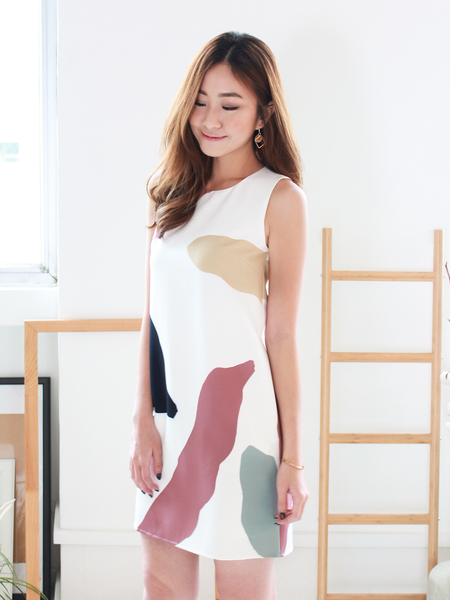 Julien Shift Dress in Painter's Palette | *MADEBYWC