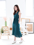 Mathilda Mermaid-Tail Midi Shirt Dress in Teal | *MADEBYWC