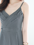 Byron Gingham Jumpsuit in Black