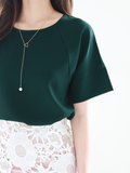Mira Cuff Top in Forest