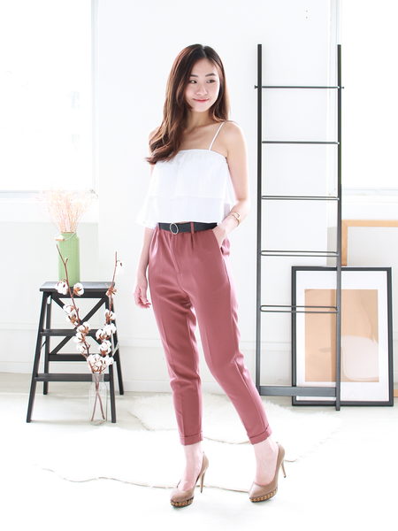 Hershel Peg Leg Pants in Tea Rose